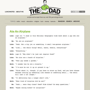 And I'm the Dad: Tumblr theme