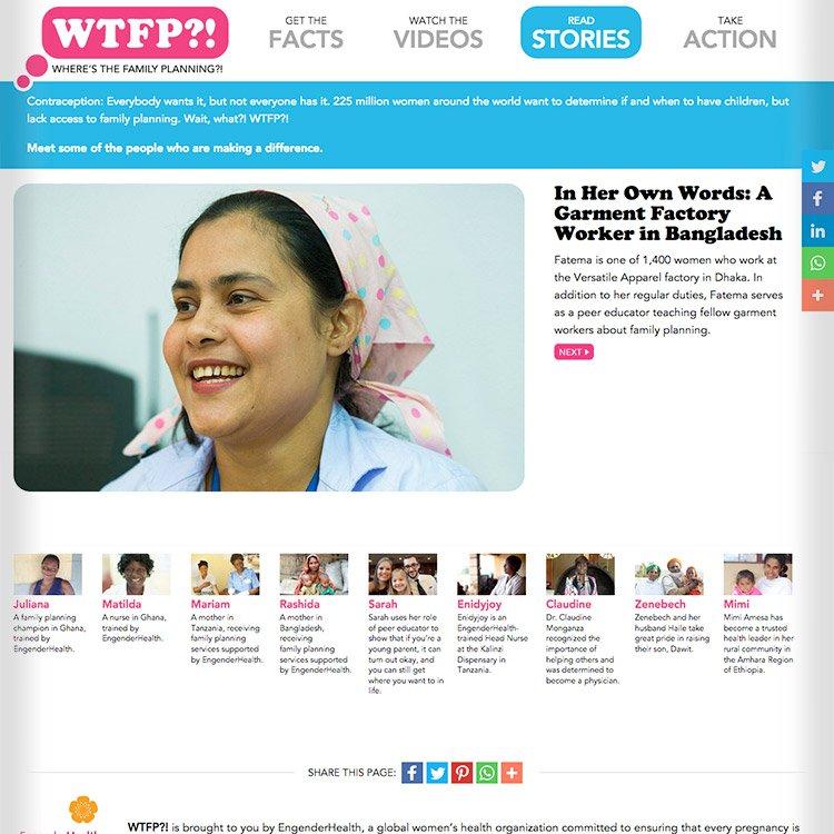 <b>Web site</b>, slideshow story library