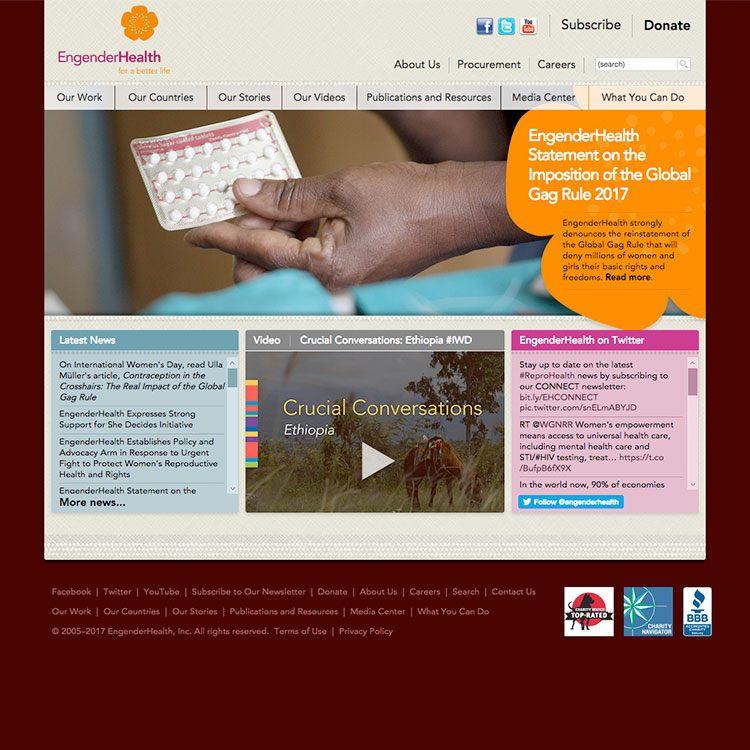 <b>Web site</b>, home page