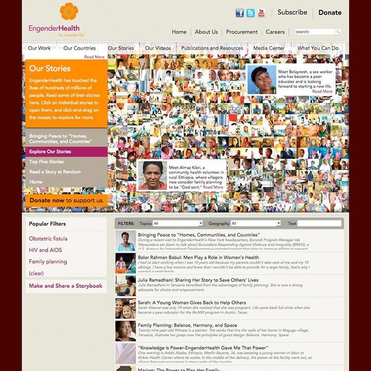 <b>Web site</b>, story library